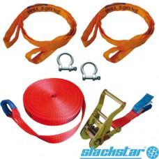 Slackline Guide Set 35mm, 6 piezas, 15mt